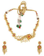 Stone Design Floral Styled Kundan Necklace
