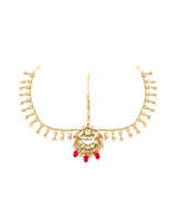 Bridal Kundan Necklace Styled With Beads Jewellery