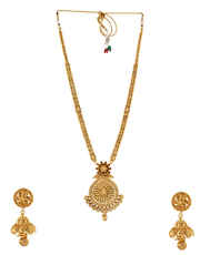 Gold Finish Fancy Necklace For Women