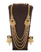 Antique Gold Finish Designer Necklace For Women Fancy