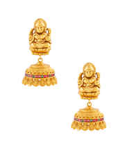 Multi Colour Matte Gold Finish Temple South Indian Jewellery