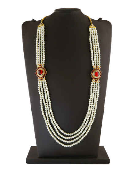 Designer Moti Groom Necklace
