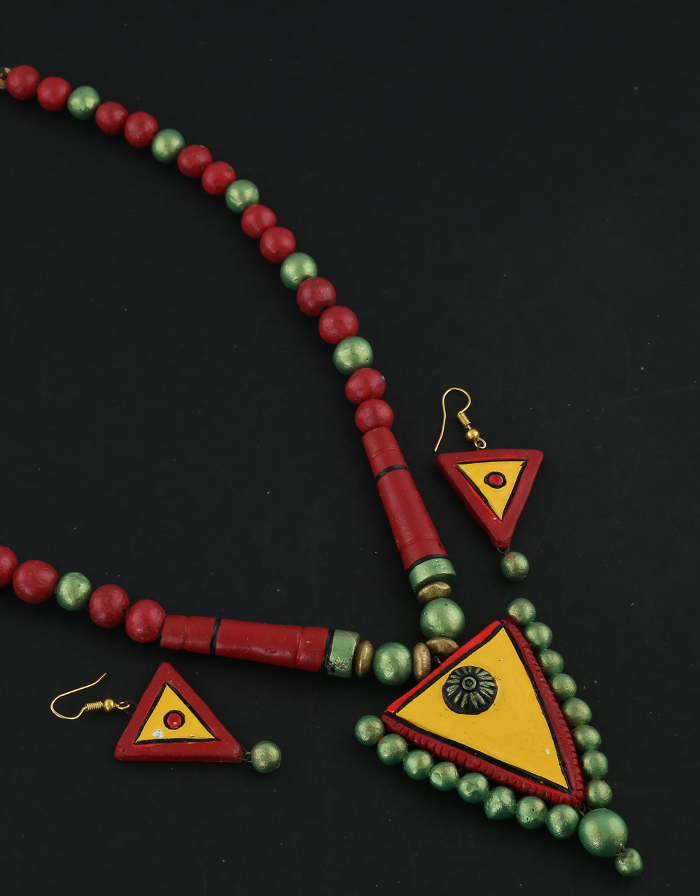 Multi Colour Terracotta Necklace For Wedding