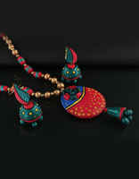 Floral Design Terracotta Necklace