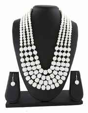 Trendy White Colour Western Necklace Jewellery