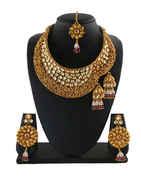 Designer Gold Finish Kundan Necklace For Women