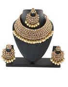 Beautiful Antique Gold Finish Short Necklace