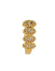 Fancy Gold Finish Diamond Nose Ring Stud
