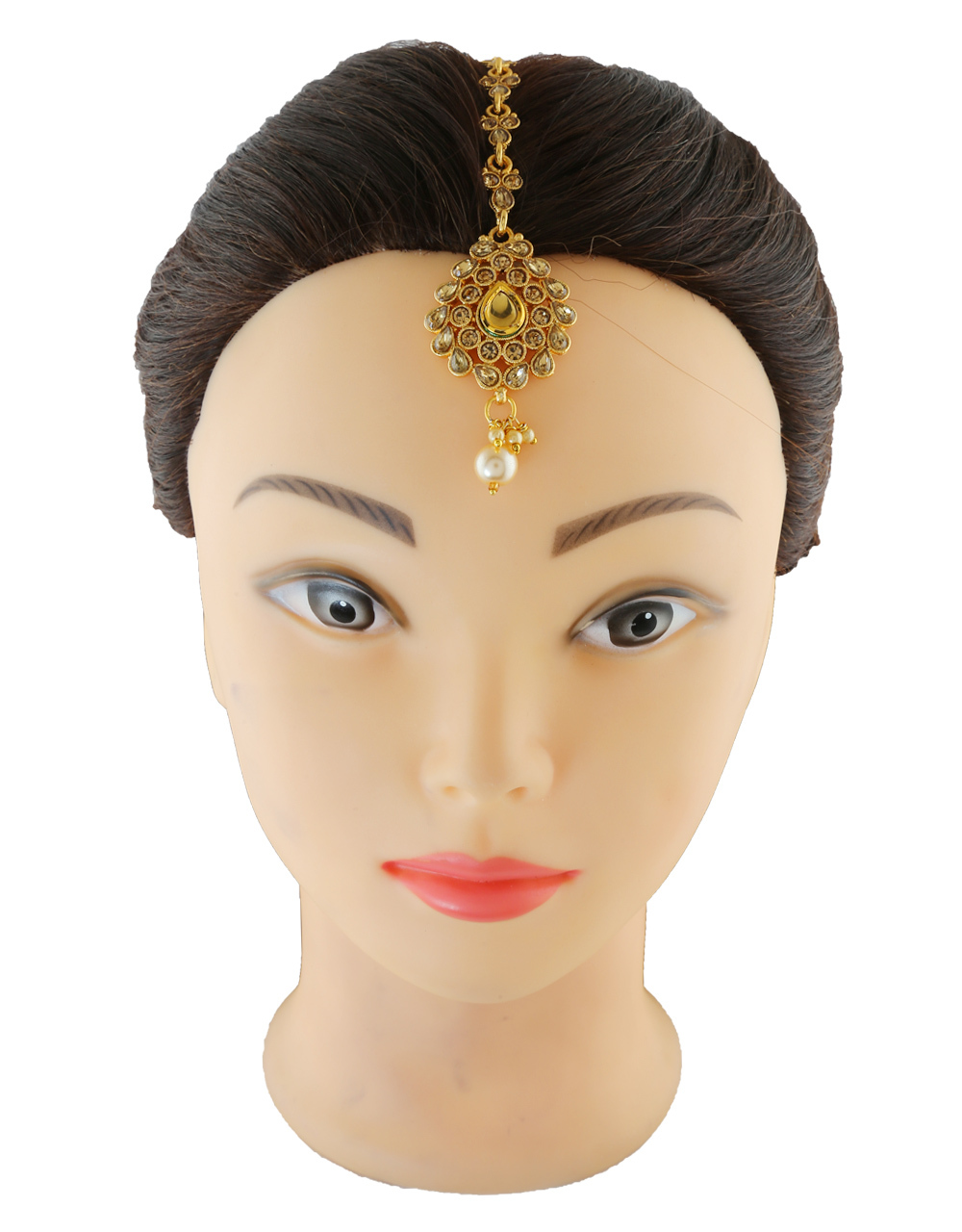Fashionable Mang Tika Studded With Stones Hair Jewellery