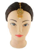 Floral Design Gold Finish Hair Jewellery