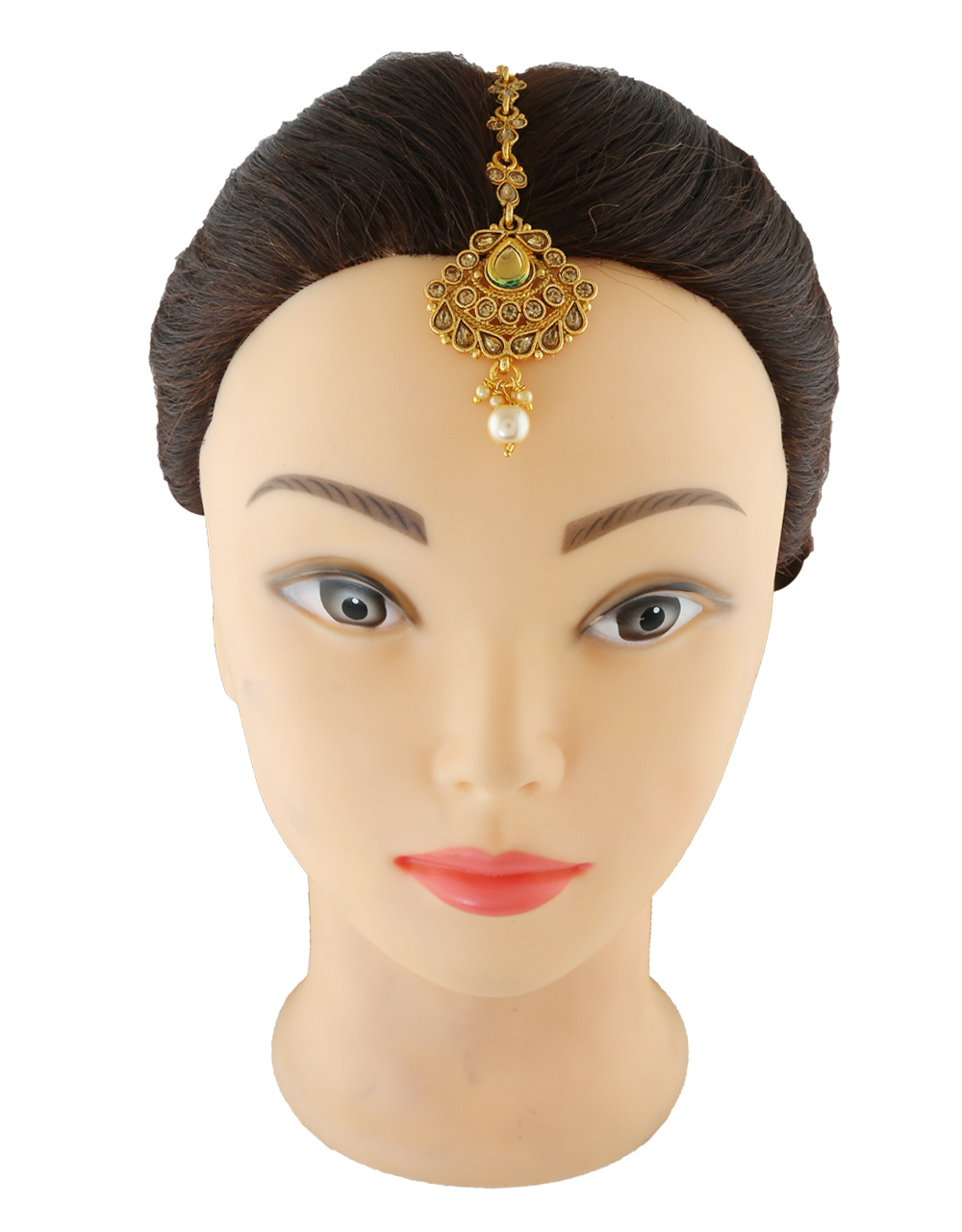 Very Fancy Gold Finish Mang Hair Tika Jewellery