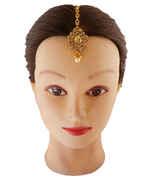 Designer Gold Finish Mang Tika For Girls