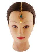 Green Colour Hair Mang Tikka Jewellery