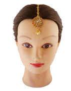 Fancy Gold Finish Mang Hair Tikka Jewellery