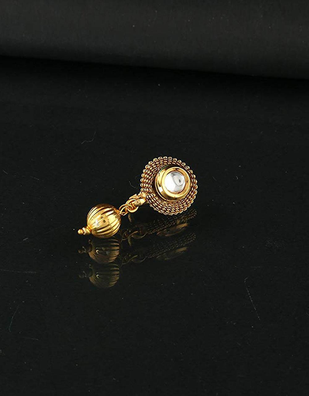 Gold Tone Fancy Nose Ring For Girls