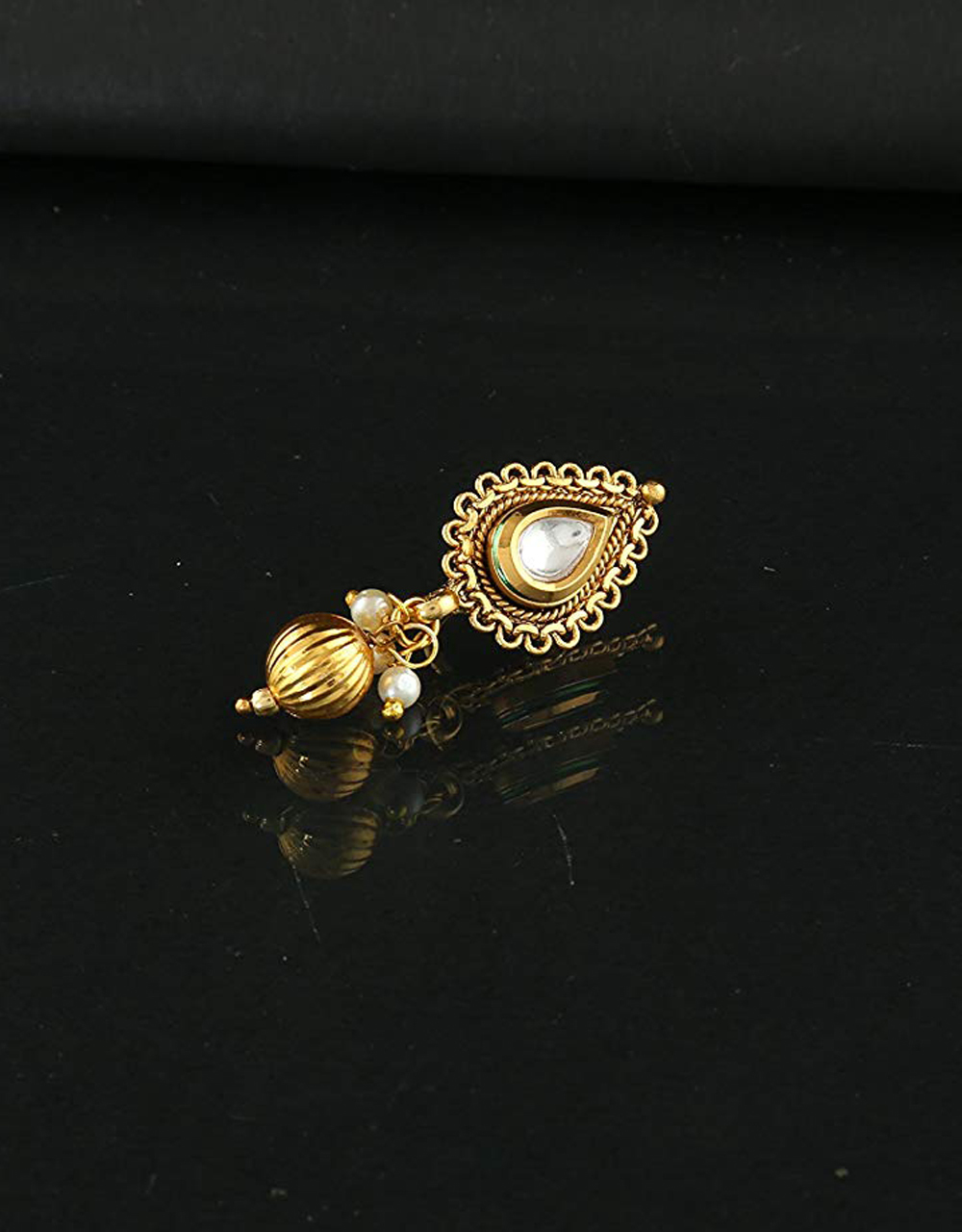 Gold Finish Simple Nose Ring