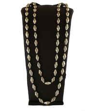 Gold Finish Beads Jewellery Set For Wedding