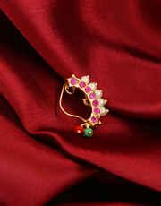 Gold Finish Pink Colour Bhanu Nath