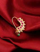 Gold Finish Pink Colour Maharashtrian Bhanu Nath