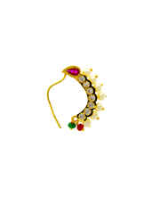Pink Colour Gold Finish Bhanu Nath For Women