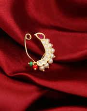 Designer Gold Finish Bhanu Nathani