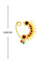 Very Classy Gold Finish Maharashtrian Nath For Women