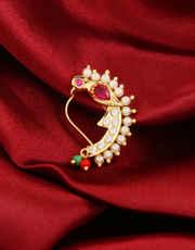 Fancy Gold Finish Maharashtrian Nathani