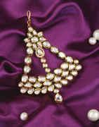 Designer Gold Finish Diamond Pasa Studded With Kundan Hair Jewellery