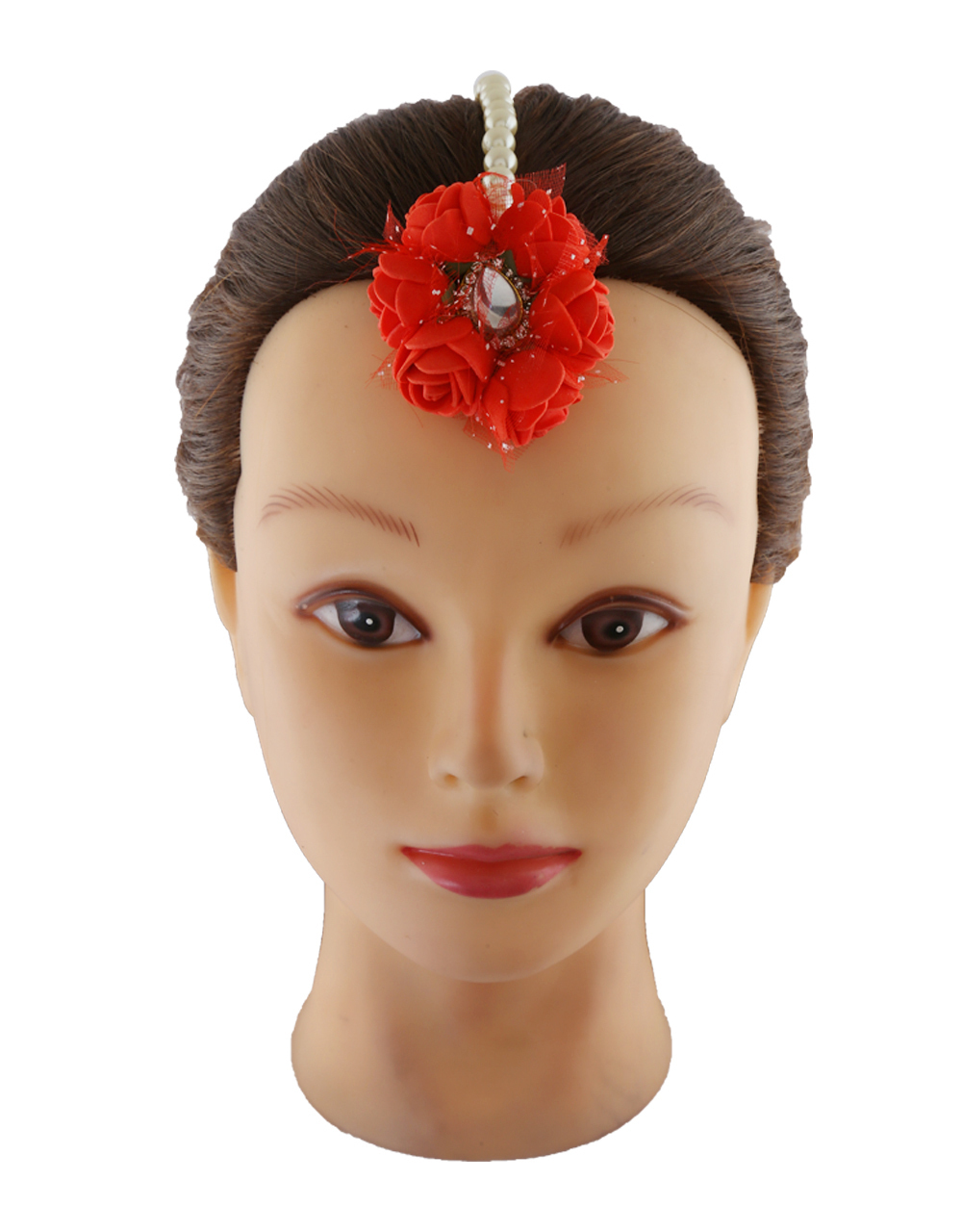 Red Colour Artificial Floral Jewellery Necklace