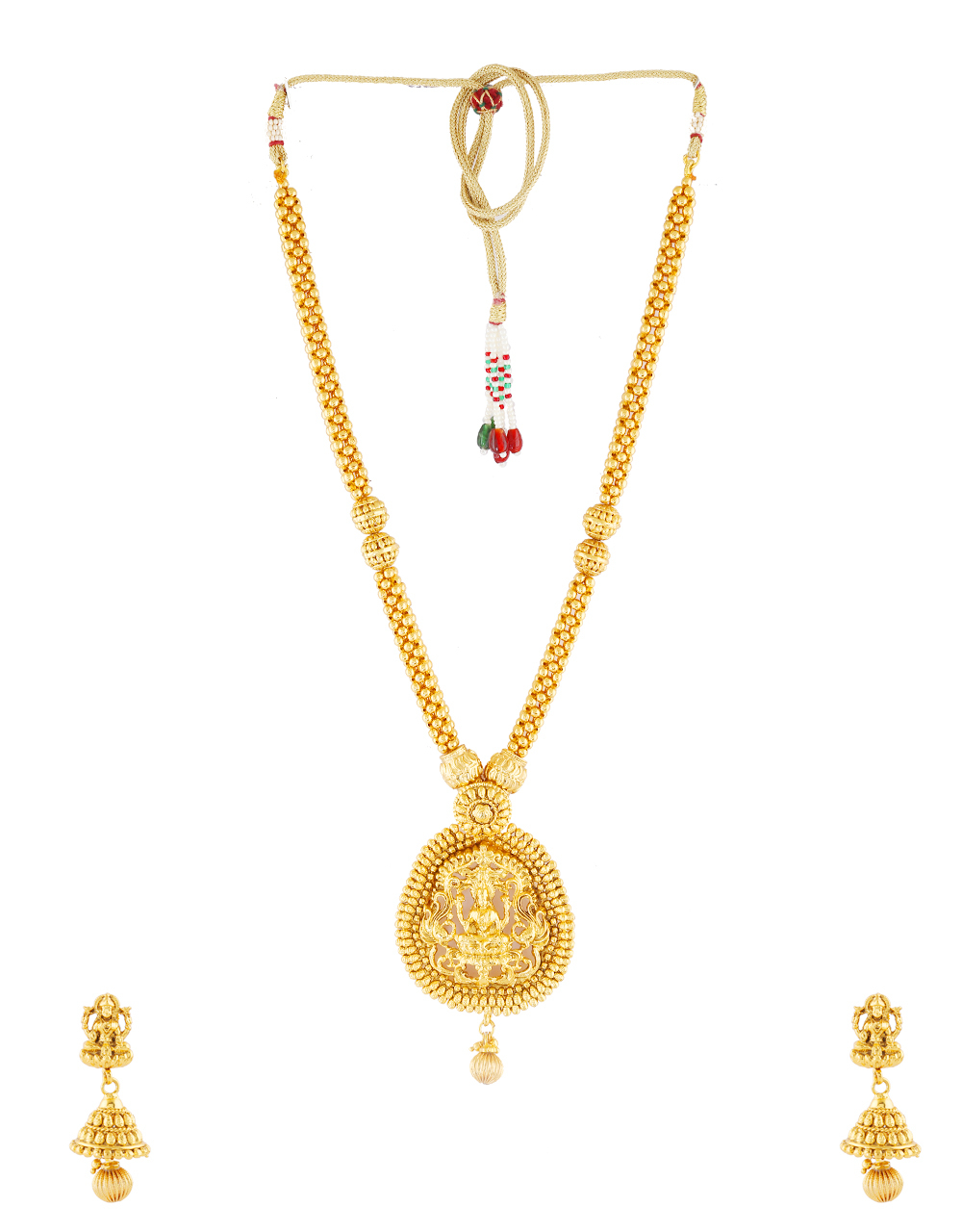 Temple Design Gold Finish Traditional South Indian Necklace
