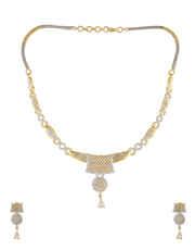 Adorable Gold Finish Diamond Necklace