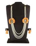 Orange Colour Baby Shower Flower Jewellery Designer