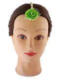 Green Colour Moti Styled Flower Jewellery For Girls Haldi