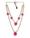 Very Classy Pink Colour Flower Jewellery Fancy
