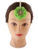 Green Colour Floral Design Gold Finish Haldi Jewellery