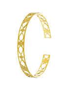 Gold Finish Floral Design Bracelets Fancy