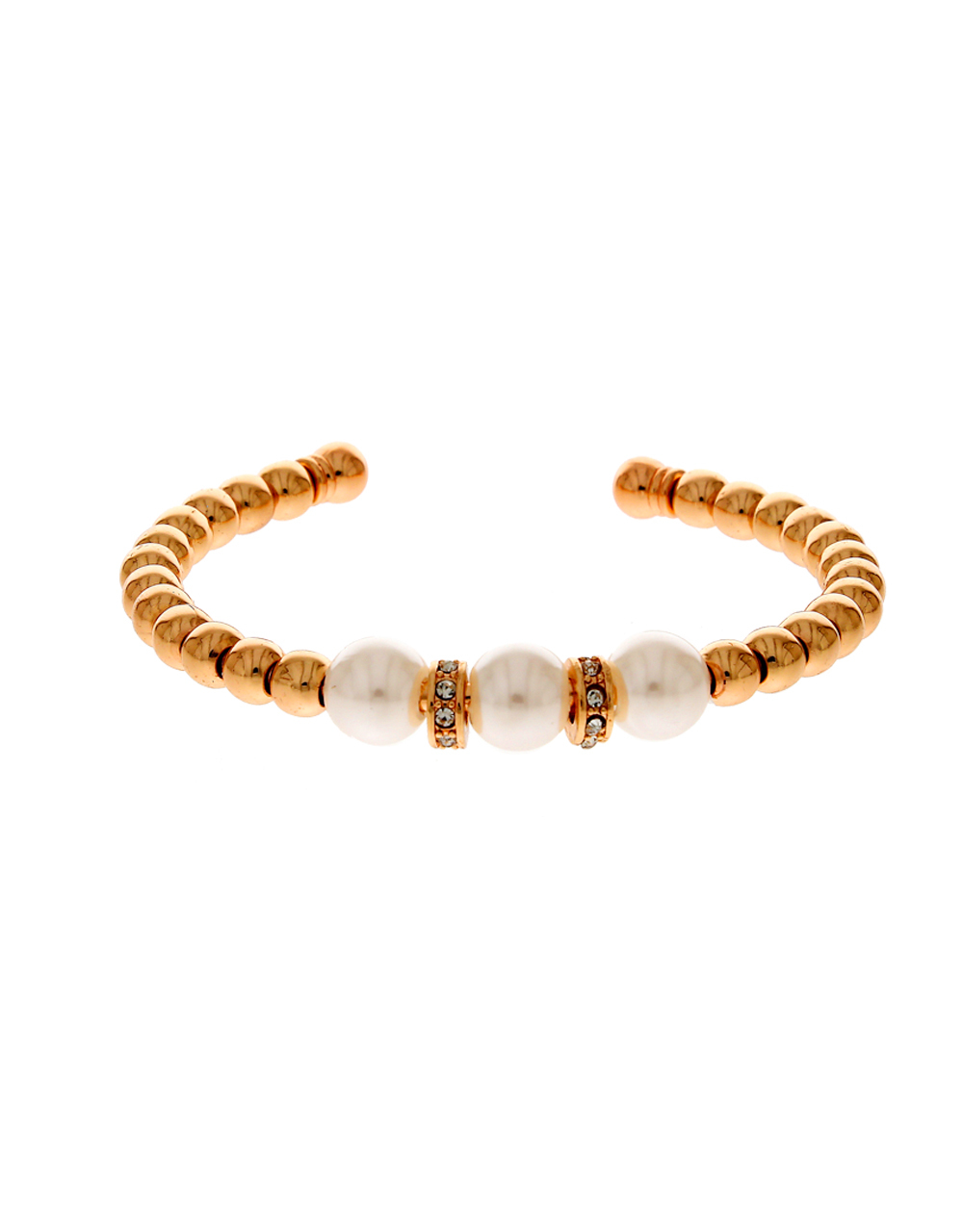 Anuradha Art Golden Colour Styled with Woven Pearl Beads Beautiful Hand Bracelet//Kada for Women//Girls
