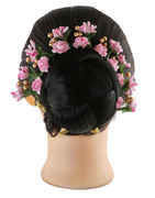 Pink Colour Designer Hair Gajra
