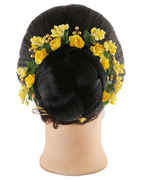 Yellow Colour Hair Gajra For Fancy