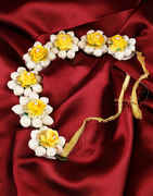 Yellow Colour Hair Gajra Traditional