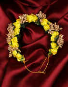 Yellow Colour Hair Jewellery Designs