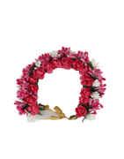 Designer Pink Colour Hair Jewellery Gajra