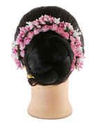 Fancy Pink Colour Hair Gajra Designs