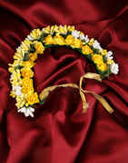Yellow Colour Floral Styled Hair Accessories