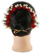Red Colour Fancy Hair Gajra