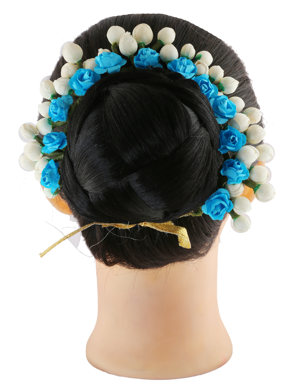 Turquiose Colour Fancy Hair Accessories Gajra