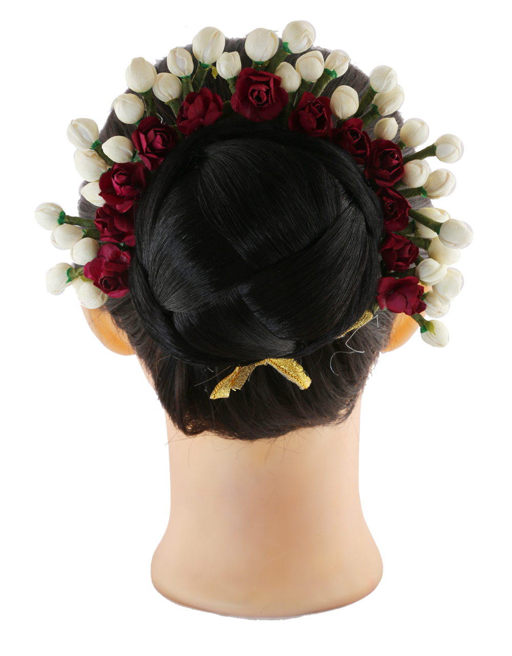 Fancy Maroon Colour Hair Accessories Gajra Designs