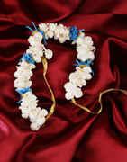 Blue Colour Hair Accessories Jewellery Gajra Designs