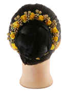 Yellow Colour Hair Gajra For Traditional