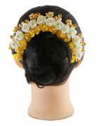 Yellow Colour Hair Jewellery Gajra